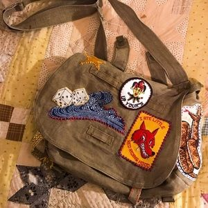 1970s Vietnam Hand-Patched Military Bag